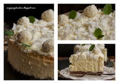 moje pasje: Sernik obłędnie kokosowy Something Sweet, Feta, Cooking Tips, Delicious Desserts, Cheesecake, Food And Drink, Sweets, Cookies, Baking