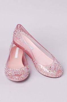 <3 Melissa UltraGirl + J. Maskrey Swarovski Crystal Embellished ballet flats…