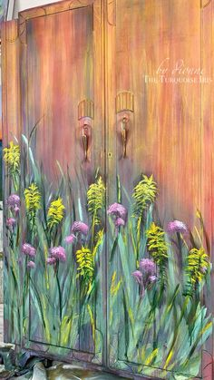 Hand painted wildflowers by Dionne Woods