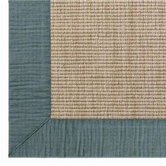 Linen Texture Border Wool Sisal Rug: 6 Colors