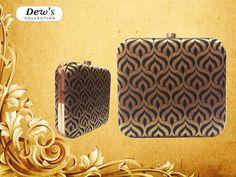 Silk black n Gold brocade Clutch by #dewscollection