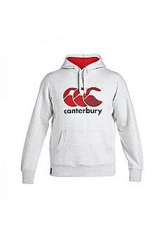 Canterbury AW15 Stripe CCC Logo Hoody - Cloud Marl - Grey