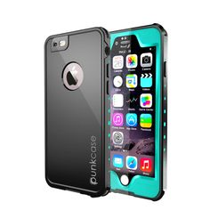 iPhone 6S+/6+ Plus Waterproof Case PUNKcase StudStar Teal Apple iPhone 6S Plus/6 Plus Waterproof Case W/ Attached Screen Protector Lifetime Warranty