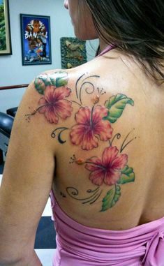 16 Hibiscus tattoo