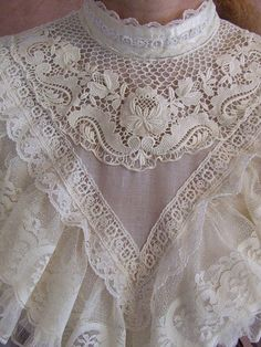 Gunne Sax Frilly Lace Victorian Styled Blouse 9 | Flickr - Photo Sharing!