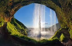 Cachoeira Seljalandsfoss, Islândia.