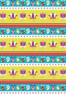 Diwali scrapbook paper, stripe design