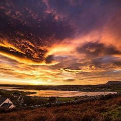 'Thank God, all you who have a spark of rational piety in your hearts, for the glorious commonplace of earth and sky - for this cloud-embosomed planet in which you pass your lives.'  ~  William Smith, 1862  (M) <3  Pic. a storm brewing over Dunfanaghy and Muckish Mountain in County Donegal, by James Greer https://www.facebook.com/james.greer.96 https://www.instagram.com/james.greer.96