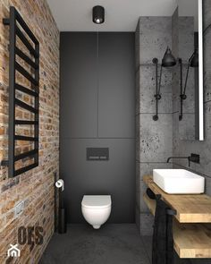 5 Accomplished ideas: Narrow Bathroom Remodel Grey bathroom remodel beige and wh. - 5 Accomplished ideas: Narrow Bathroom Remodel Grey bathroom remodel beige and wh. Industrial Bathroom, Bathroom Interior, Modern Bathroom, White Bathroom, Bathroom Ideas, Budget Bathroom, Bedroom Modern, Bathroom Sinks, Bedroom Decor