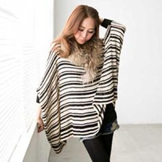 Dolman-Sleeve Striped Knit Top from #YesStyle <3 Tokyo Fashion YesStyle.co.uk