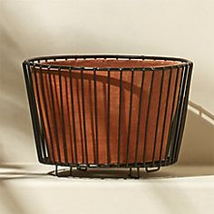 View larger image of wire and terracotta small black planter