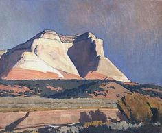 Dixon Maynard - Sunlit Cliffs, oil on canvas board kK Landscape Art, Landscape Paintings, Landscapes, Western Landscape, Watercolour Paintings, Art Paintings, Maynard Dixon, Mexican Artists, Southwest Art