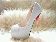 White w/ rose petal heel