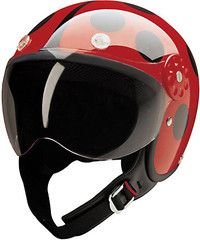 Original, fashionable, and fun lady bug helmet! Get yours from Campus Skooters today  http://shop.campusskooters.com/collections/helmets/products/hci-open-faced-helmet-ladybug