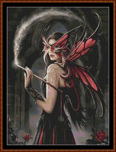 dragon and fairy cross stitch patterns | Apprentice Witch Cross Stitch [fairy witch fantasy dragon] - £1.50 ...