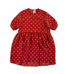 Polka-dot crepe dress - Girl - Fall-Winter Collection