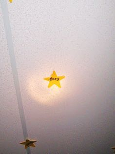 Sight word stars on the ceiling-use this idea for letters. Let students lie on backs, lights off, and read letter flashlight shines on.