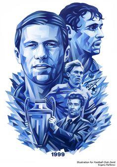 Illustration for FC Zenit Saint Petersburg by Evgeny Parfenov, via Behance