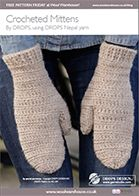 DROPS Extra - Free knitting patterns and crochet patterns by DROPS Design Crochet Mitts, Crochet Mittens Pattern, Bonnet Crochet, Crochet Gratis, Crochet Gloves, Cute Crochet, Knitting Patterns Free, Free Knitting, Knit Crochet