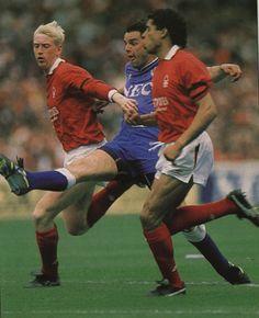 30 April 1989 Graeme Sharp cracks home a superb half volley to score Everton's second at Wembley against Forest