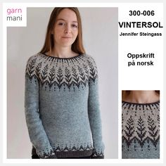 no - Icelandic wool specialist We sell the Norwegian recipe for Jennifer Steingass& popular Winter Solo sweater! In agreement with designer Jennifer Steingass, we have translat. Drops Design, Er 5, D 40, Beautiful Mask, Jacket Pattern, Christmas Knitting, Yarn Colors, Knitting Yarn, Wool Sweaters