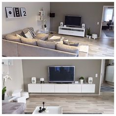 Livingroom before and after (syhina.blogspot.fi)