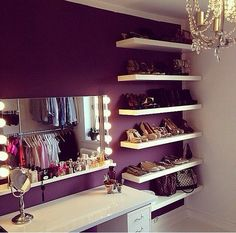 Vanity with a shoe wall!