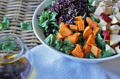 Roasted Chicken & Kale Grain Bowl | You Must Love Food
