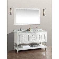 "Cape Cod 60"" Double Bathroom Vanity Set with Mirror"