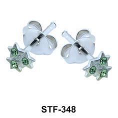 Star Set Silver Stud Earrings. #earpiercing #jewelrypiercing #bodypiercing #piercing