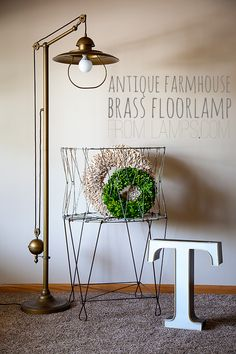 Whipperberry: Antique Farmhouse Floor Lamps Review // Lamps.com Pin to Win GIVEAWAY