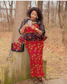Ankara Short Gown, Ankara Skirt And Blouse, African Maxi Dresses, African Wedding Dress, Ruffle Blouse, Lace Skirt And Blouse, African Outfits, African Wear, African Fashion