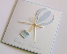 Hot Air Balloon Christening Invitation