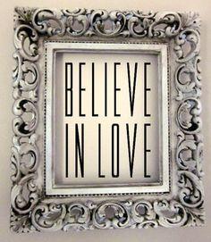 Believe in Love Romantic Custom Vinyl Wall Decal by WelcomingWalls, $10.00