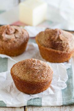 cinnamon muffins ready to eat