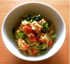 we love veggie: Kürbis-Grünkohl Couscous Food Blogs, Vegan, Guacamole, Veggies, Mexican, Ethnic Recipes, Wordpress, Vegetarian Chili, Eat Clean Lunches