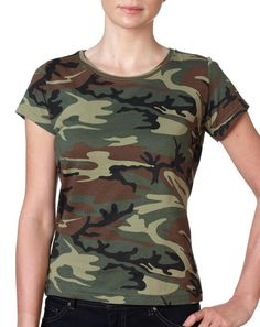 Code Five Adult REALTREE® Camouflage T-Shirt's, Rack & Rifle, Back Design No Front, Great for Couples - 015