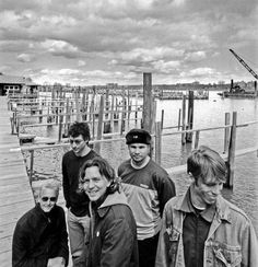 A previously unreleased Binaural era photo of Pearl Jam, taken by Glen E. Friedman.