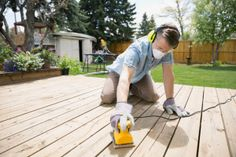 Sanding A Deck with A Floor Sander . Sanding A Deck with A Floor Sander . Voila My Diy Disc Belt Sander Hehe Sanding Wood, Cool Deck, Diy Deck, Deck Stain Reviews, Best Deck Stain, Deck Refinishing, Deck Staining, Deck Cleaning, Apron