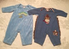 2 Cachcach Baby Boy Size 3-6 Month Rompers Blue Cowboy Sheriff Horse Playsuits | eBay
