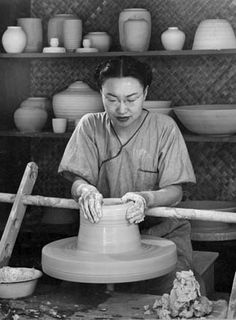 "Jade Snow Wong, ceramicist, author - I still read her book ""5th Chinese Daughter"" about once ever couple years...it is so tattered and old, but I love it so much and learned so much from it..."