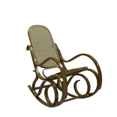 This bentwood rocker was inspired by Michael Thonet from the Victorian era. It has narrow strips of wood bent from heating to form the curves. It appears light and airy and the material on the seat and back are reminiscent of material used in the Victorian time period.  http://www.amazon.com/Carolina-Cottage-Victoria-Bentwood-Rocker/dp/B009EQN1NE/?qid=1361160702&s=home-garden&sr=1-1&keywords=bent+wood+rocking+chair&ie=UTF8&ref=sr_1_1