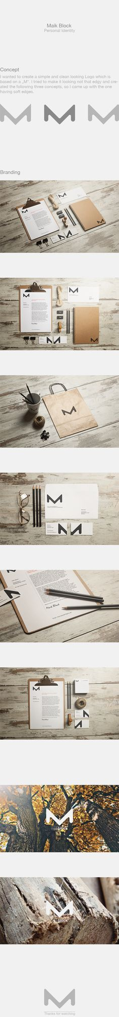 Personal Identity by Maik Block, via Behance - simple