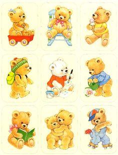 Vintage Adorable Stuffed Bears Sticker sheet by Eureka