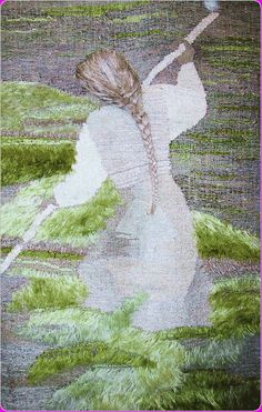 Tapestry artist unknown at the site they are hoping to locate the artist to give credit. I love the detail in the hair and use of what appears to be eyelash yarns is very interesting. Галерея «Гобелены ручной работы» 100% ручная работа по эскизам мастера. Подарочные и выставочные гобелены. Эксклюзивные гобелены в единичном исполнении. Картины в нитках. Картины в интерьере. Подарочные и сувенирные гобелены. Портрет из ниток на заказ