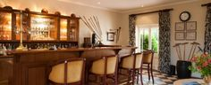 Bar at River Bend Lodge, Luxury 5 star Lodge in Addo, South Africa.