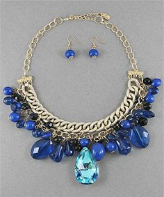 Blue Royalty Necklace Set #shoplately