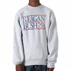 Reagan Bush 84 1984 vintage retro campaign Pull Over Sweatshirts