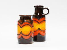 Scheurich 70's lava vases