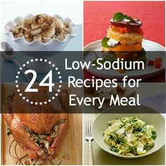 24 Tasty, Low-Sodium Recipes for Every Meal – Food: Veggie tables No Sodium Foods, Low Sodium Diet, Low Sodium Recipes, Low Sodium Snacks, Sodium Intake, Heart Healthy Diet, Heart Healthy Recipes, Gourmet Recipes, Cooking Recipes